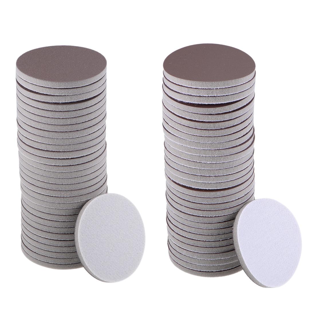Uxcell 30Pcs 3-Inch Sanding Sponge Hook And Loop Sanding Disc Wet Dry For Car Wood Drywall Metal Brown Corundum Wood Metal