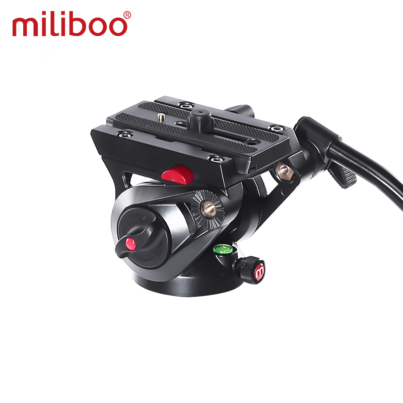 miliboo video tripod professional camera stand with ground spreader for dslr camcorder wedding photography travel quick shipping 2