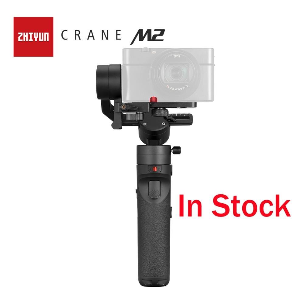 Zhiyun oficial guindaste m2 estabilizador cardan 3 eixos portátil tudo em um para câmera de vídeo câmera slr câmera smartphone ação cam para sony