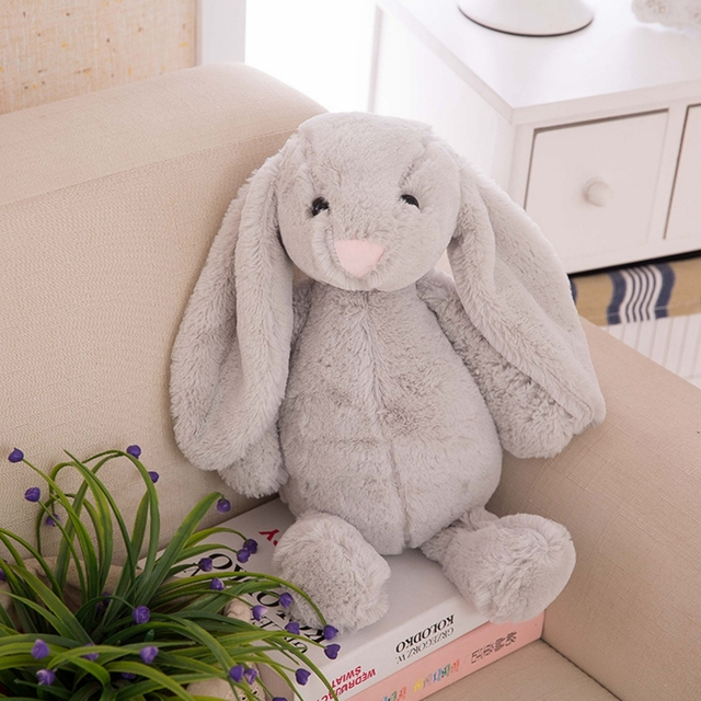 peluche lapin grise 2