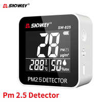 Sndway Pm2.5 Detector Air Quality Monitor Digital Humidity/Temperature Gas Analyzer Indoor/outdoor Rechargeable PM 2.5 Monitor