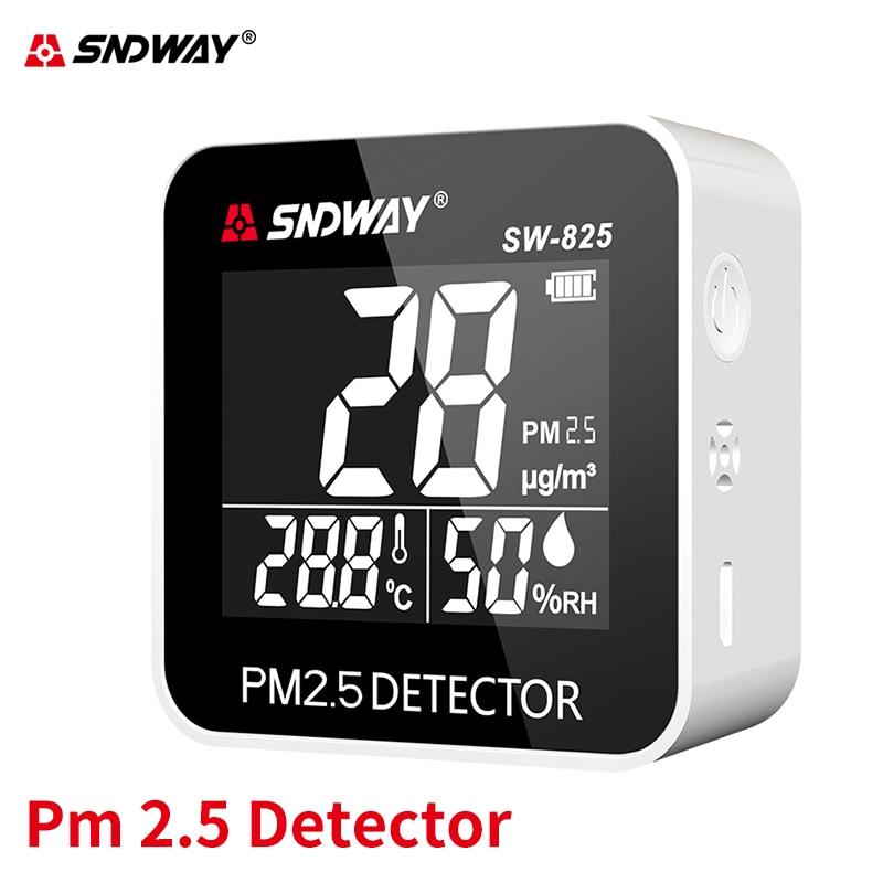 Sndway Pm2.5 Detector de monitor de calidad del aire Digital de humedad/temperatura de Gas de interior/al aire libre recargable PM 2,5 Monitor Etmakit, gran calidad, chasis de escritorio, lector de tarjetas integrado, lector de tarjetas multifunción de 3,5 pulgadas