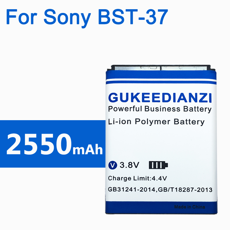 2550mAh BST-37 100% New Phone Battery For <font><b>Sony</b></font> <font><b>Ericsson</b></font> <font><b>K750</b></font> D750i K758C S600C V600 V600i W550C W550I W600 W600c W700 W710 W710C image