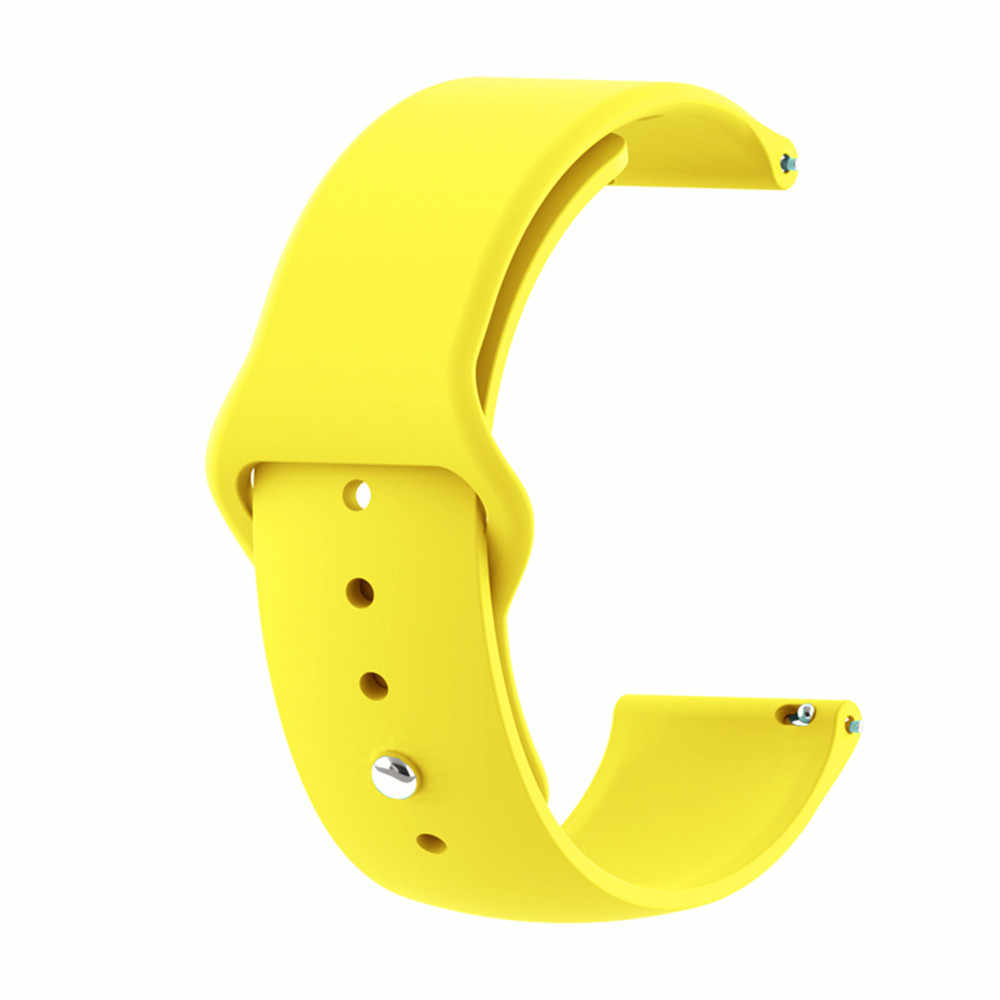 18mm 20mm 22mm pulseira en silicone para huawei/withings/samsung galaxy/engrenagem s3/amazfit bip montre intelligente pulseiras de rem