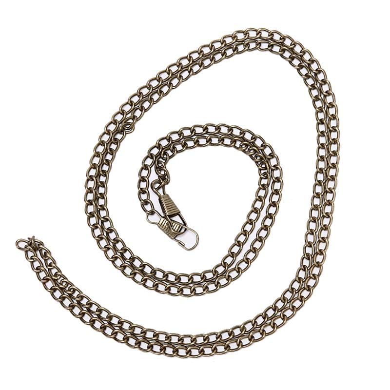 1PC Handbag Metal Chains For Bag DIY Purse Chain With Buckles Shoulder Bags Straps Handbag Handles Bag Parts & Accessories 120cm