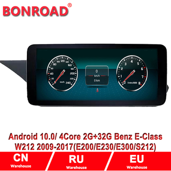 10.25 Screen Android 10 Car Multimedia Radio For Mercedes Benz E Class E63 AMG 4matic CGI Hybrid/Blue W212 2009-2015 NTG GPS image