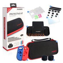 Hard Shell Protective Bag Kit for Nintendo Switch All In One Travel Storage Bag Silione Case Game Card Slot Joy Con Grip