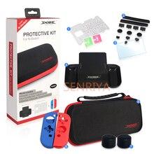 Kit de sac de protection à coque rigide pour Nintendo Switch tout en un sac de rangement de voyage étui en silicone fente pour carte de jeu Joy Con Grip