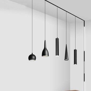 Magnetic attraction Led Track Light 10W Hoisting Lamps for Shop Rail Aluminum Spot Lighting for Clothing Ceiling Lamp Spotlights