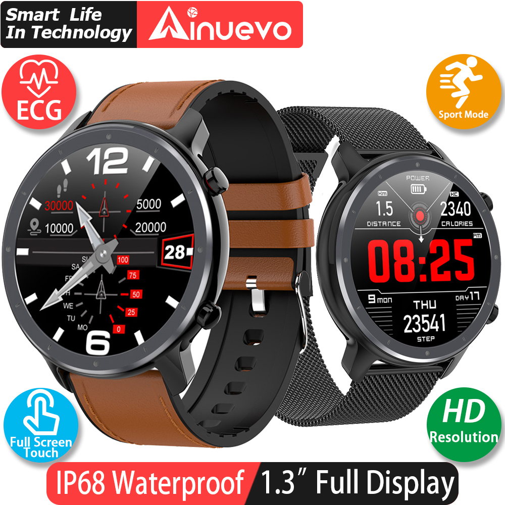 Ainuevo Professional Sport Smart Watch Men ECG+PPG Heart Rate Blood Pressure Monitor IP68 Weather <font><b>Smartwatch</b></font> vs L5 L8 <font><b>L7</b></font> L9 L11 image