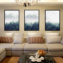 Forest Landscape Decorative Paintings Nordic Simple Three-bedroom Living Room Wall Canvas Art Wonderland