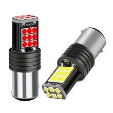 2PCS 1157 P21/5W BAY15D Super Bright LED Car Brake Bulbs Turn Signals Auto Rear Fog Lamp Daytime Running Lights Red White Yellow