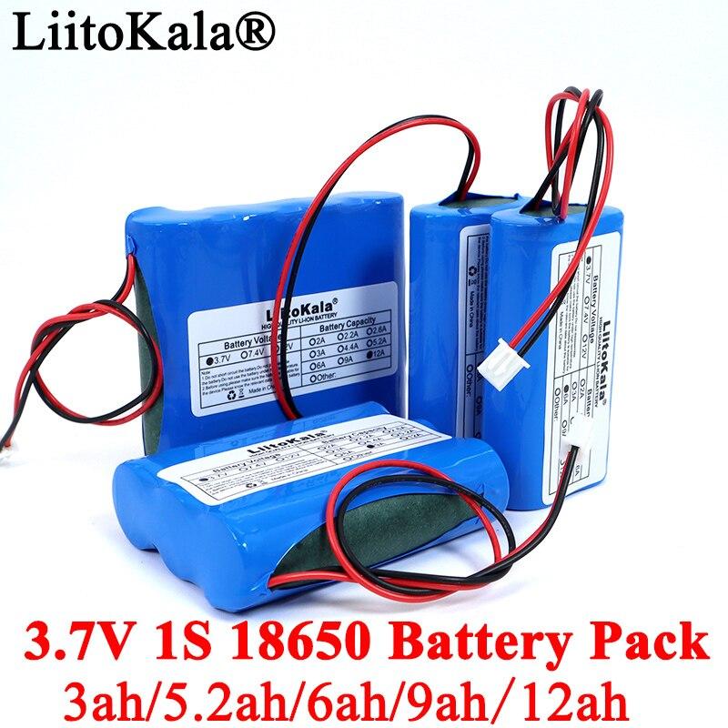 Paquete de batería de litio 3,7 V 18650, 1S2600mAh, 5200mAh, luces LED de pesca, Altavoz Bluetooth de 4,2 V, baterías de emergencia DIY + protección