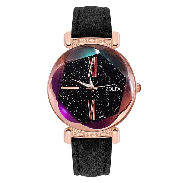 DUOBLA Luxury Women's  Starry Night Dial, Fashion quartz wristwatches