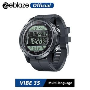 Умные часы Zeblaze VIBE 3S, прочные, для улицы, в режиме реального времени, для отслеживания погоды, калорий, расстояния 5 атм/50 м/164 фута, водонепроницаемые