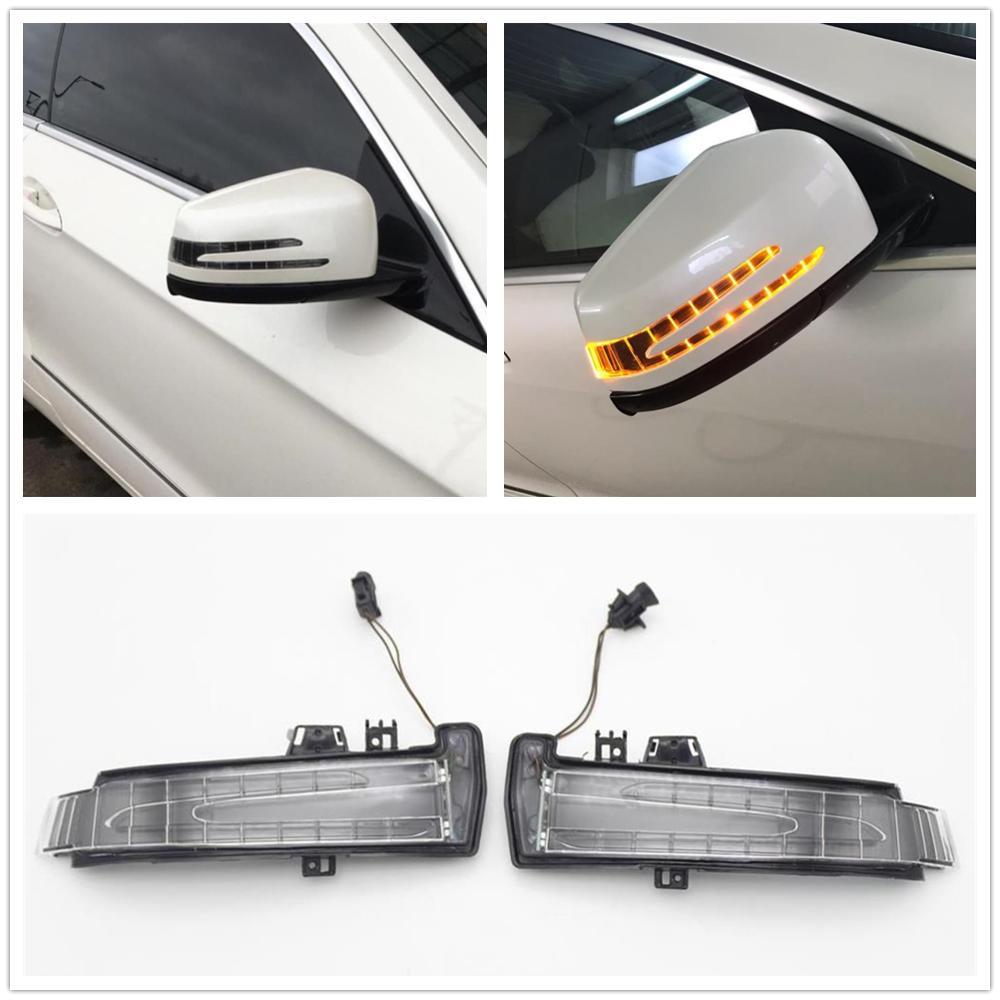 LED ด้านหลังดูกระจกไฟเลี้ยว led สำหรับ Mercedes Benz W221 W212 W204 S300 S500 S350 S600 S400 C180 blinker โคมไฟ