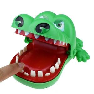 Artilugio de broma para niños y adultos, tamaño L, cocodrilo mordedor, dentista, monstruo de la suerte, juego de viaje para fiesta, juego de Halloween familiar