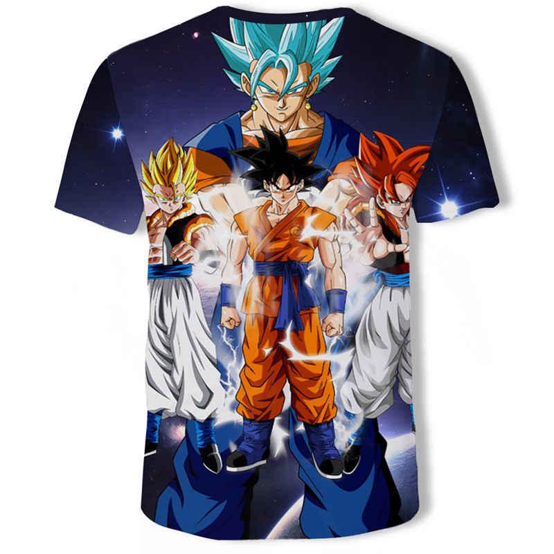 드래곤 볼 Z 울트라 본능 신의 아들 Goku 슈퍼 Saiyan 남자 Tshirt 3D 인쇄 여름 o-넥 일일 캐주얼 재미 T 셔츠 Plu