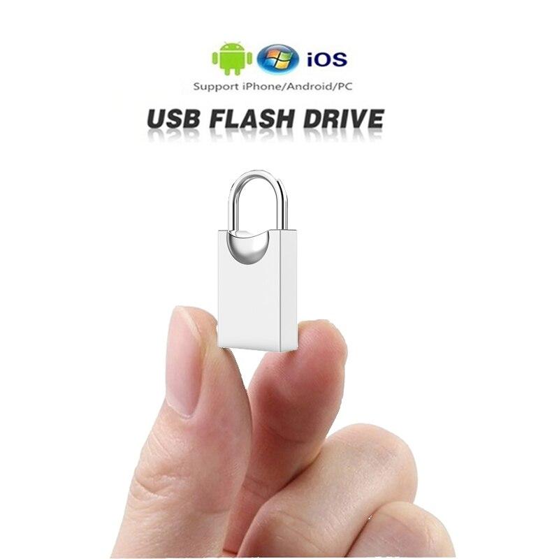 Super Mini Usb Flash Drive 64GB 16GB 8GB Metal Flash Drive 128GB 32GB Memory Stick Pendrive Storage Flash Disk Tailor-made LOGO