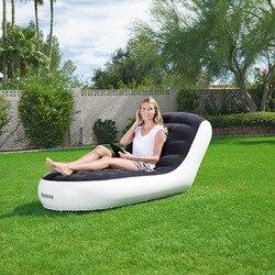LK625 ekologiczny pcv + aksamitna pojedyncza Sofa Home Outdoor Sofa dmuchana nowoczesny wygodny leżak uciekający