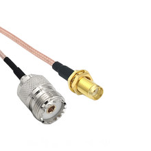 UHF SO239 mujer PL259 a SMA enchufe hembra de crimpado adaptador RG316 Cable Pigtail