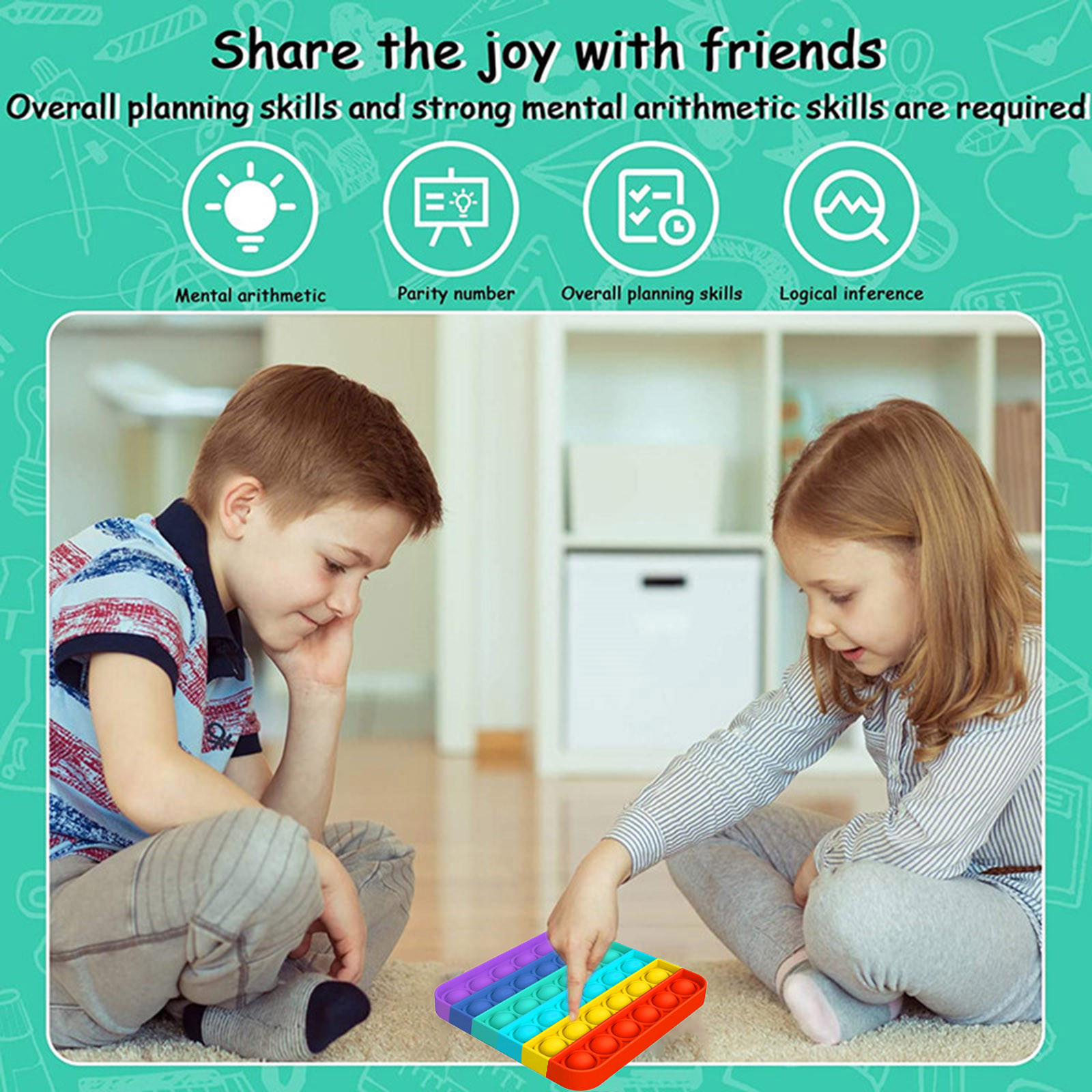 Poppit Toy Fidget-Toys Sensory-Toy Autism Gift Bubble-Pop Stress Reliever Funny Simple Dimple img5