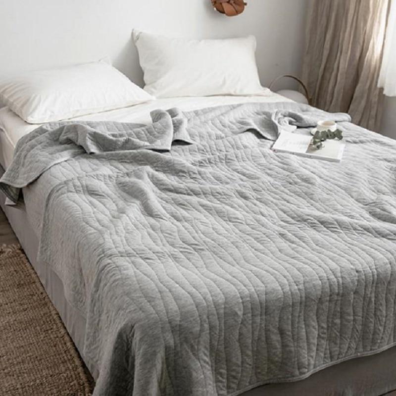 Однотонное летнее хлопковое стеганое одеяло королевского размера, покрывало, покрывало, кондиционер, стеганое одеяло, стеганое одеяло|cotton quilt|cotton summer quiltsking cotton quilt | АлиЭкспресс