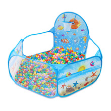 купить Children's Toys Playing Tent Ocean Balls Pit Baby Play Ball Pool With Basket Net Outdoor Game Large Foldable Tents Y40 дешево