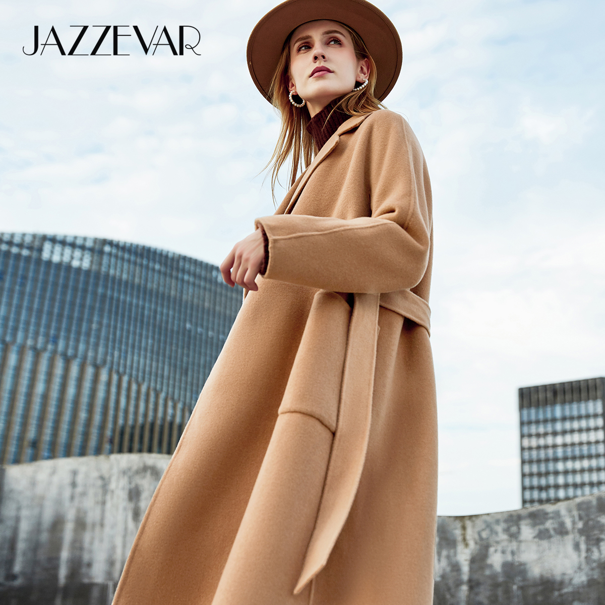 JAZZEVAR 2020 Atumn Winter New Fashion Arrival Women High Quality Outerwear For Lady Classic Double sided Hand sewn Woollen Coat|Wool & Blends| - AliExpress
