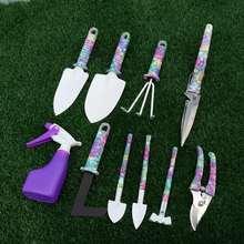 10 Pcs/set Multifunctional Garden Tool Set Shovel Rake Clippers Household Kit Garden Planting Plastic Case Packing