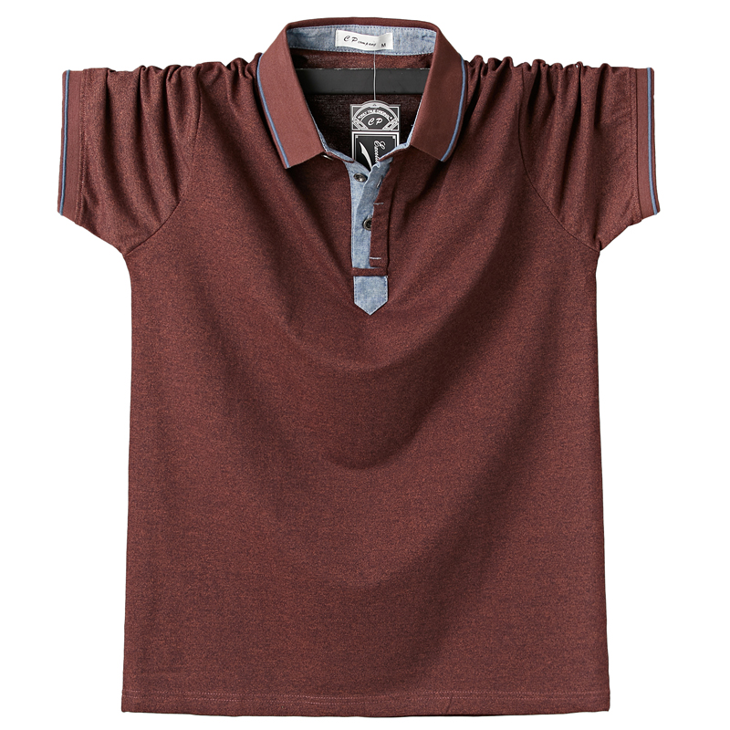 Outwear Shirt Clothing Classic Cotton 6XL Tops Large-Size Mens Fashion Summer Casual