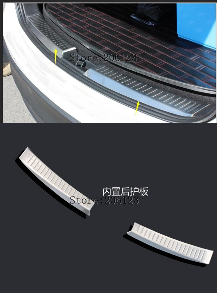 For <font><b>Mazda</b></font> CX-5 <font><b>CX5</b></font> 2017 <font><b>2018</b></font> Car Rearguards Stainless Steel Rear <font><b>Bumper</b></font> Trunk Fender Sill Plate Protector Guard Covers image