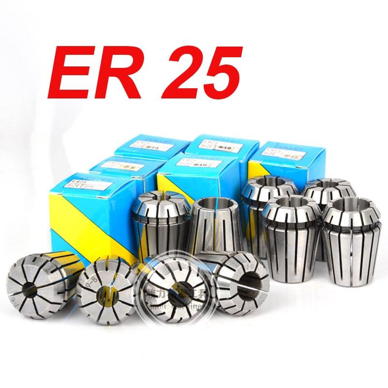 1pcs ER25 1 16MM  1 2 3 4 5 6 7 8 9 10 11 12 13 14 15 16 Spring Collet Set For CNC Engraving Machine Lathe Mill Tool