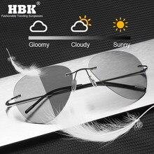 Titan Randlose Photochrome Sonnenbrille Männer Polarisierte Fahren Ultraleichte Pilot Sonnenbrille für Outdoor Angeln UV400