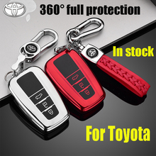 ZOBIG Car Key Case Fob Keychain Cover For Toyota Camry Corolla C-HR CHR Prado 2018 Key Protection Car Styling car tpu key holder cover case shell chain for toyota camry corolla c hr chr prado 2018 key protection