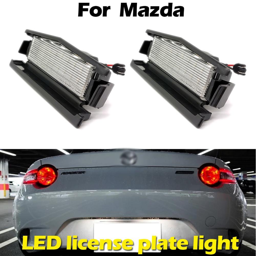 Для Mazda 2 2016 MX5 Miata 2016up белый светодиодный светильник заднего номерного знака