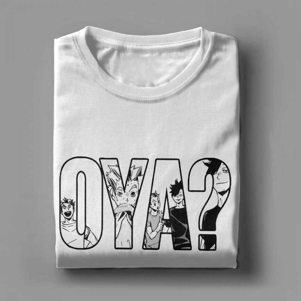 Oya Haikyuu koszulka męska Kuroo Anime Bokuto Oya Manga Shoyo siatkówka koszulki bawełniane t-shirty z krótkim rękawem europa bluza
