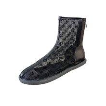 цена 2020Eugen yarn Martin boots BV mesh cool boots single boots short boots women hollow mesh yarn boots Martin summer women's boots онлайн в 2017 году