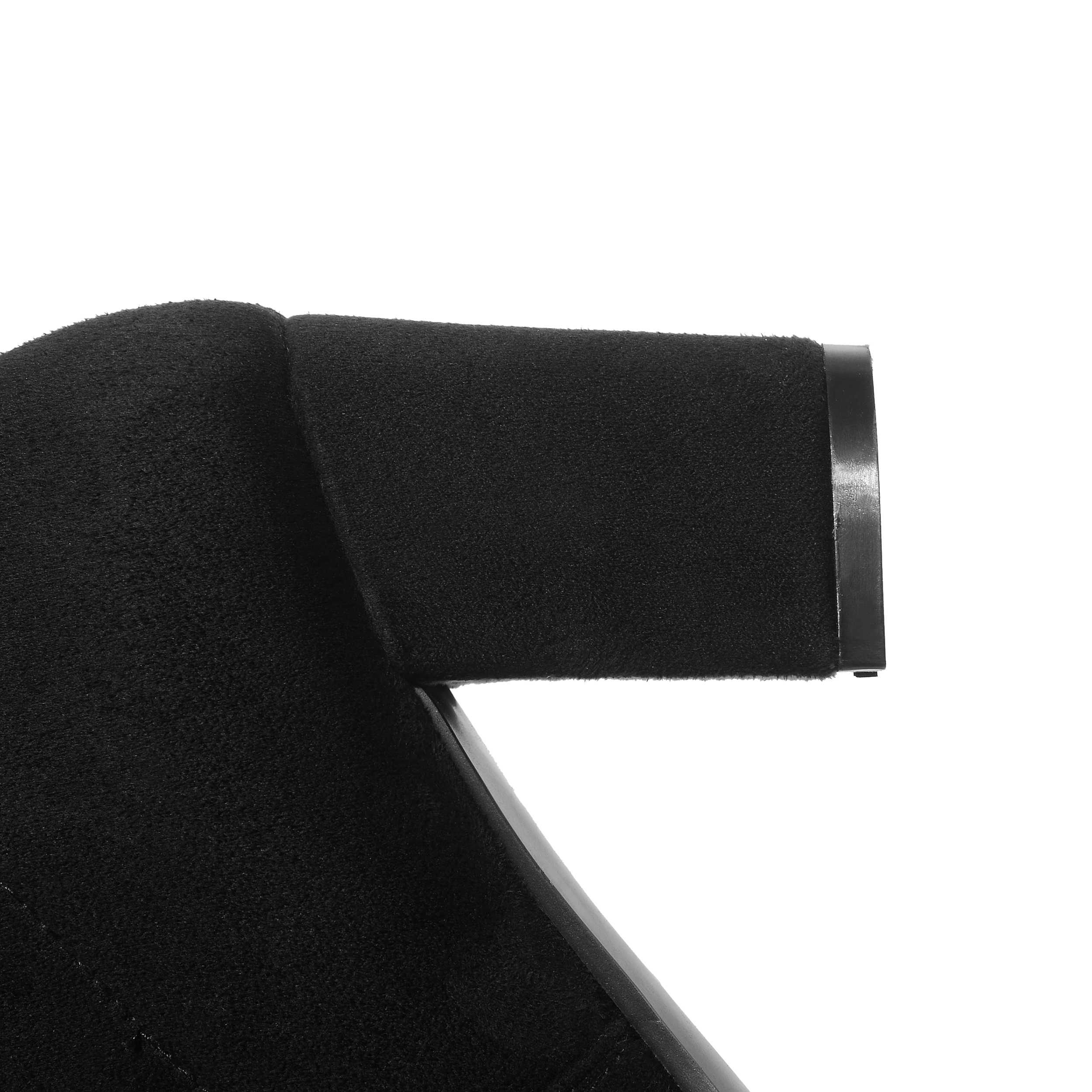 Qutaa 2020 Phụ Nữ Trên Đầu Gối Giày Cao Cổ Vuông Nữ Cao Giày Nền Tảng Mùa Đông Tất Cả Trận Đấu Gợi Cảm Nữ Giày size 34-43