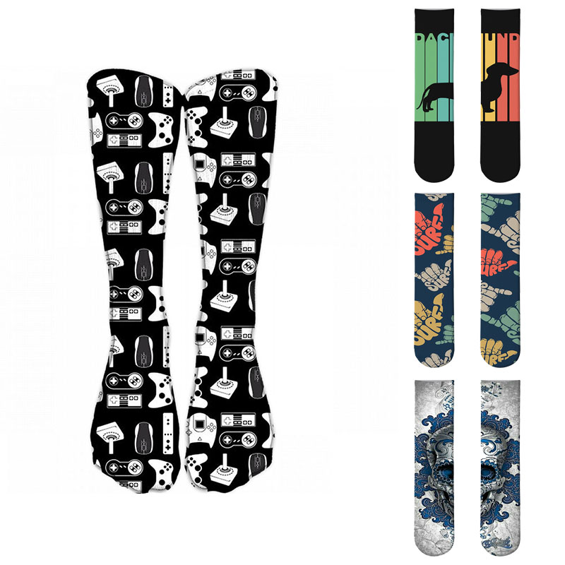 Men Fashion Hip Hop Multicolor Funny Happy Crew Socks Street Skateboard Long Socks For Women Harajuku Calcetines
