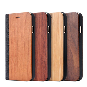 Image 5 - KISSCASE Bamboo Natural Wood Case For iPhone 11/11 Pro Max XR X XS Max 7/8 Plus 11 PU Leather Flip Cases Pouch Bag S10 Plus P30
