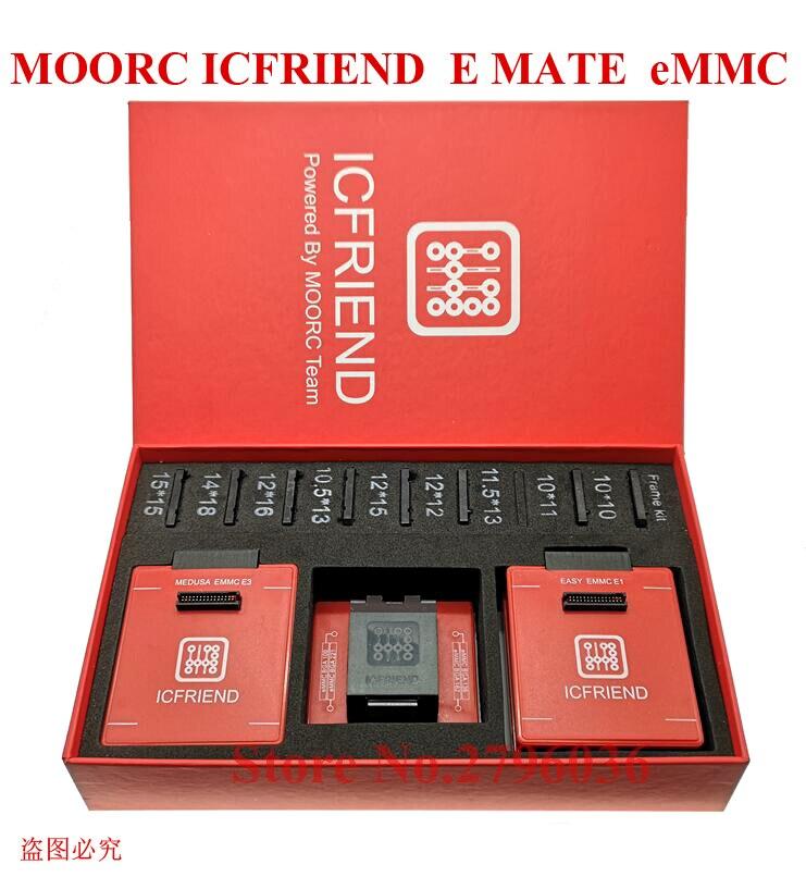 MOORC ICFriend высокая скорость E-MATE X E подручная коробка эмате EMMC BGA 13in 1 для 100 168 153 169 162 186 221 529 254 Z3X легкий Jtag