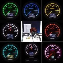 62mm GReddi Multi D/A gauge 7 Color Car Digital Display Turbo Boost Water Temp Gauge 2.5 Inch