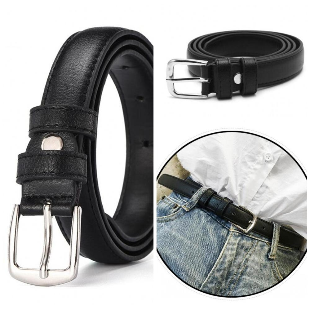 2020 Hot 2.2cm Fashion Antique Black Women Belts PU Leather Metal Pin Buckle Jeans Female Waist Belt Waistband Size 90~110cm New