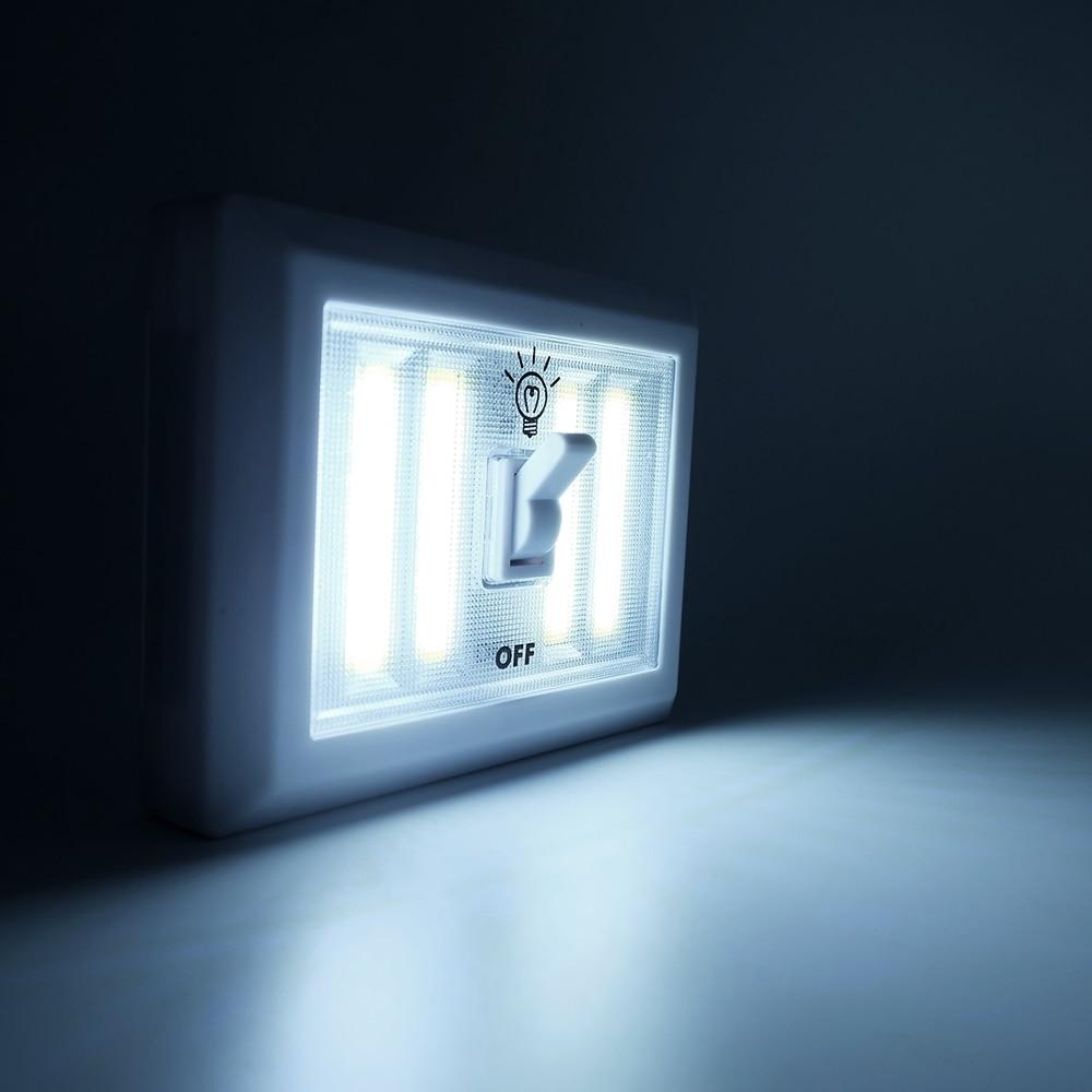 2 шт Портативный Ночной светодиодный светильник с 4 светодиодными панелями