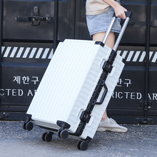 Aluminum frame Hard case suitcase waterproof carry on luggage bag Traveling luggage bags with wheels suitcases and travel bags cheap CN(Origin) 6 5kg 26cm Hardside Luggage 42cm Spinner 67cm 0312 Unisex