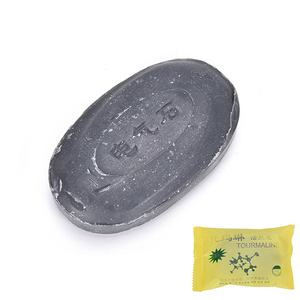 1PC 50G Tourmaline Soap Bamboo Active Energy Soap Charcoal Concentrated Soap For Ance Face & Body Beautiful Healthy Care Soap