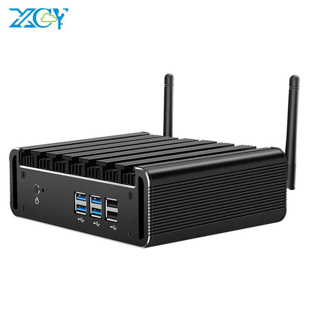 Xcy mini pc intel core i7 7500u i5 7200u i3 7100u ram msata ssd hdmi vga 6xusb wifi de banda dupla bluetooth 4.0 windows 10