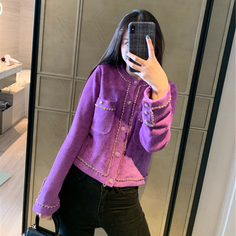 WOMENGAGA 2020 Spring New Single-breasted  Short Sweater Pockers Knitted Casual Streerwear Girl Female Cardiqans Solid A026