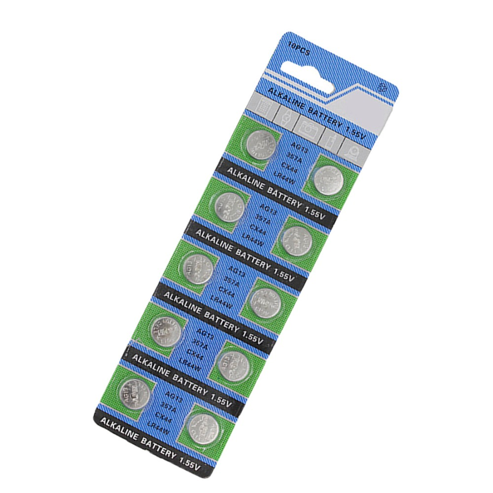 MJKAA 10pcs AG13 For Watch Toys Remote LR44 A76 SR1154 LR1154 Cell Coin Alkaline Battery 1.55V G13  357 Button Batteries